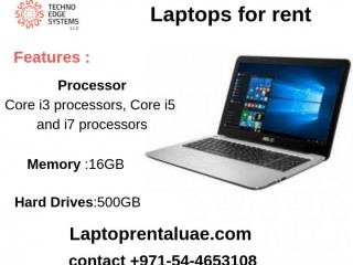 We offer All Brands of Laptops for rent.Give us a call on +971-54-4653108 Laptop for Rent in Dubai.