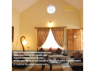 One bedroom serviced apartments bangalore