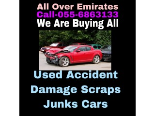 CARS WE BUY 055 6863133 USED ACCIDENT SCRAP DAMAGE JUNKS