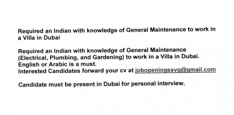 required-an-indian-with-knowledge-of-general-maintenance-to-work-in-a-villa-in-dubai-big-0