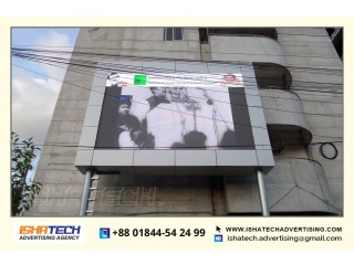 LED Sign Moving Display Board P6 Screen Fixed Installation with Outdoor and Indoor Signage TV.