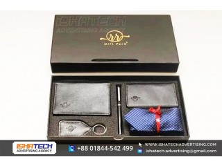 Gift Item Box Key Ring, Pen, etc Branding IshaTech Advertising Agency in Bangladesh.