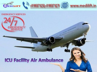 Hire Masterly Air Ambulance Service in Siliguri by Medilift