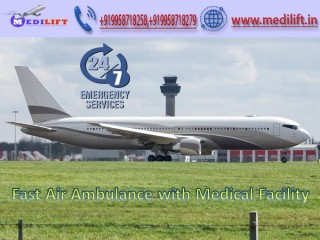 Take Splendid Air Ambulance Service in Gorakhpur by Medilift