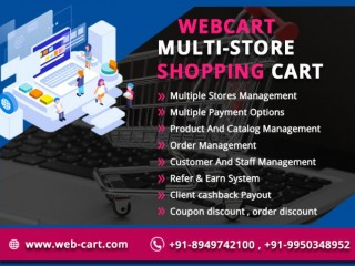 Webcart-Ecommerce Multi Store in India