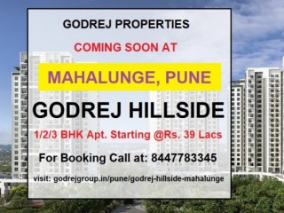 Godrej Hillside Mahalunge Pune Coming Soon Project by Godrej Properties