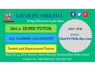 Tutor Jobs in Delhi | Home Tuition in Delhi | Home Tutors in Delhi
