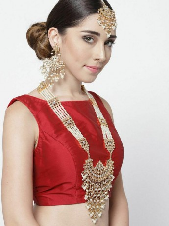 indian-bollywood-gold-plated-kundan-w-pearls-glass-raanihaar-necklace-big-0