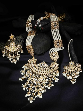 indian-bollywood-gold-plated-kundan-w-pearls-glass-raanihaar-necklace-big-1