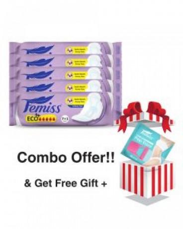 femiss-super-soft-sanitary-pad-eco-regularpack-of-5-big-0