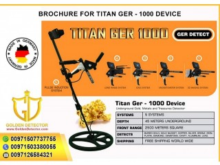 Metal detector 2020 titan ger 1000