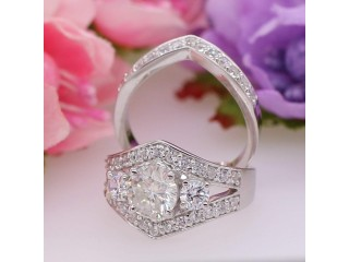 Affordable Moissanite Wedding Rings Online India