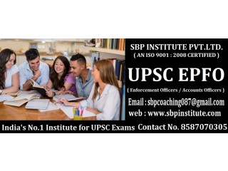 Upsc- Top Classes by- Top Teachers - SBP INSTITUTE | About UPSC EPFO 2020 Exam