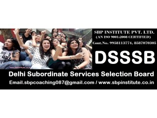 DSSSB - Top Classes / Top Teachers - SBP INSTITUTE |