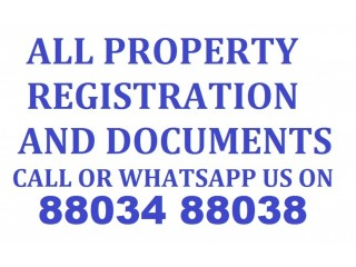 Property Registration and Documents Services Call 88034 88038