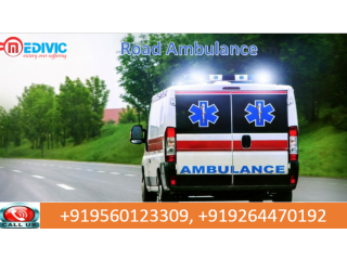 Pick Hi-tech Road Ambulance Service in Ramgarh by Medivic Ambulance