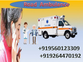 Hire Hi-tech Road Ambulance Service in Ranchi by Medivic Ambulance with Medical Team
