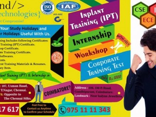 Internship in chennai for eee