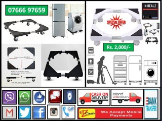Multifunction Movable Stand for Fridge and Washing Machine