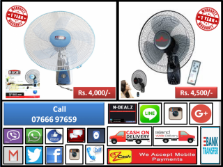 BRIGHT Wall Fan with Remote