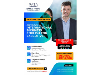 CERTIFICATE IN INTERNATIONAL BUSINESS ENGLISH FOR EXECUTIVES (ONLINE)