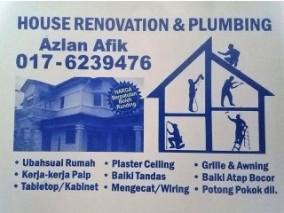 Plumbing and renovation 0176239476 azlan afik lembah keramat