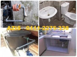 Tukang paip plumber 01112275338 azis wangsa maju
