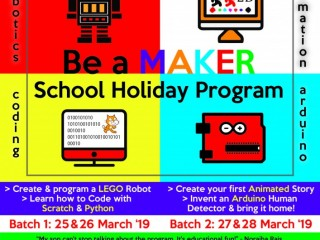 Be A Maker School Holiday Program
