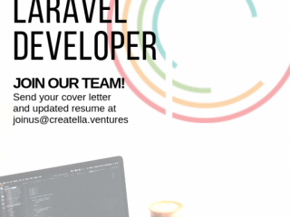 Back End Laravel Developer to Build Disruptive Startups