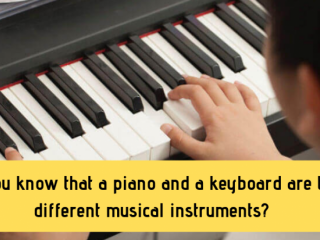 Do You Know That A Piano And A Keyboard Are Two Different Musical Instruments?