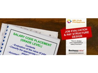 Job Evaluation & Pay Structure Design