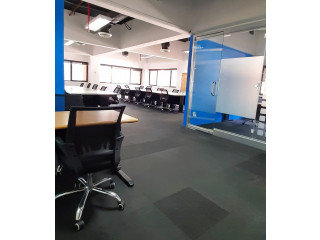 Window Office for Lease in Makati with Manager's Room 80SQM