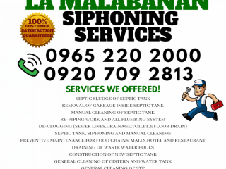 L.A Malabanan siphoning plumbing services 09207092813