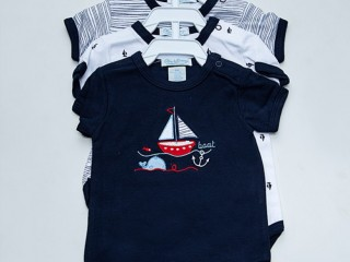 Lovely Newborn Baby Clothes 100% Cotton Short Sleeves Baby Rompers Summer in Karachi
