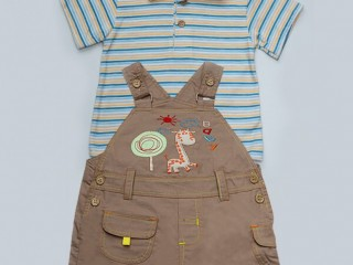 Uh Kidz Baby Romper Suit - Light Brown in Islamabad