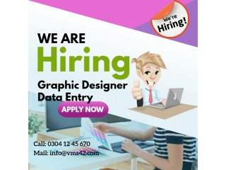 Graphic designer data entry