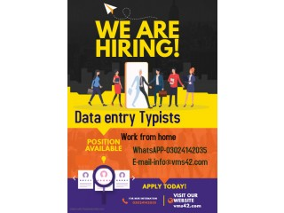 Hiring data entry workers from home- home based