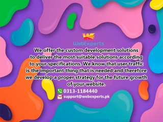 We will design creative and stunning website for you
