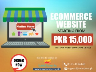 WebExperts will design , modify and customize your eCommerce websites