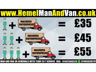 MAN AND VAN OR REMOVALS WITH TEAM 24/7 SERVICE