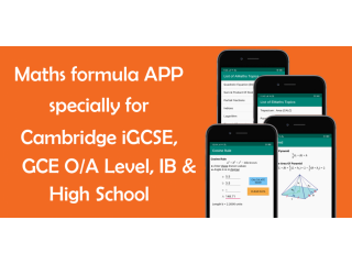 Math Formula iGCSE, GCE O/A, GCSE, IB, High School