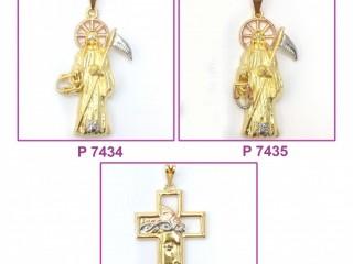 Tri Color Religious Pendants