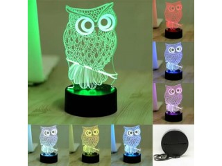 7 Color LED 3D Owl Lamp/Nightlight $33.25 free shipping You save 16% off the regular price of $39.99
