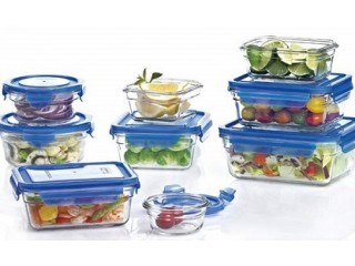Glasslock 18 Piece Blue Lid Food Container Set