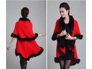 Woman Winter Poncho