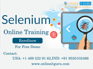 Selenium online training | selenium certification