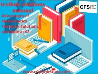Mathematics Textbook Solutions Manual at $3