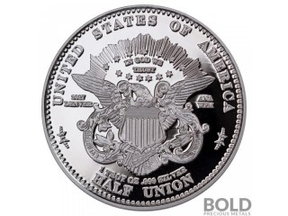 2017 Smithsonian Barber 1877 Half-Union 1 oz Proof Silver Medal