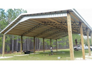 ****American Barn Busters LLC******steel truss pole barn kits to code!!!