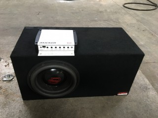 "10"" Digital Designs 3500 Series Sub/Atrend Ported Enclosure/Kicker KX 800.1 Amp"